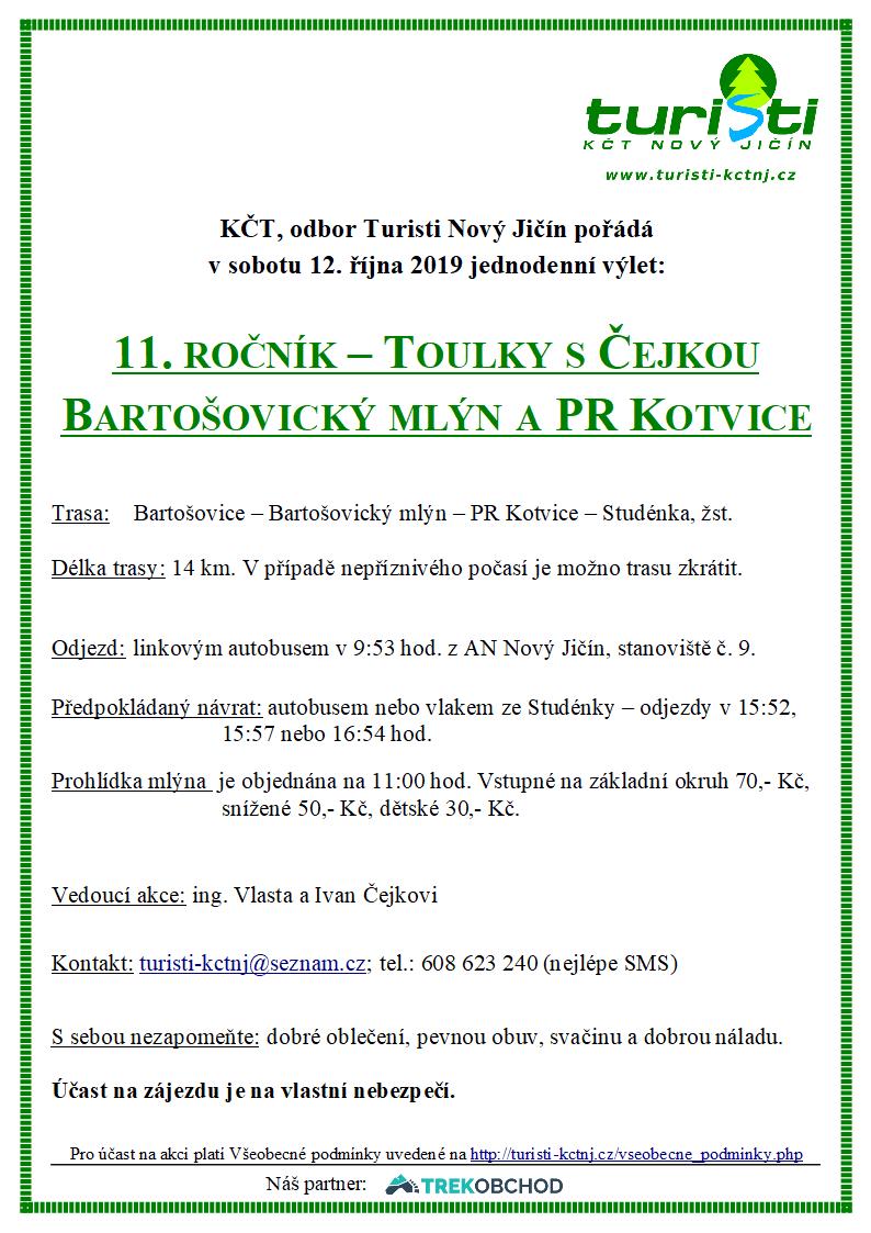 11. ročník Toulky s Čejkou - Bartošovice - Kotvice